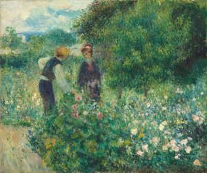 Auguste Renoir, Cogliendo fiori 1875, olio su tela,