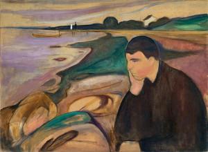 Edvard Munch -  Melanconia - 1894-1895, olio su tela.